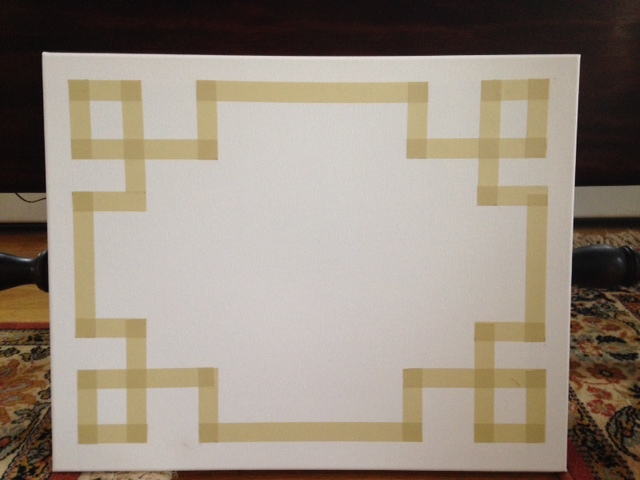 DIY Canvas Greek Key Art