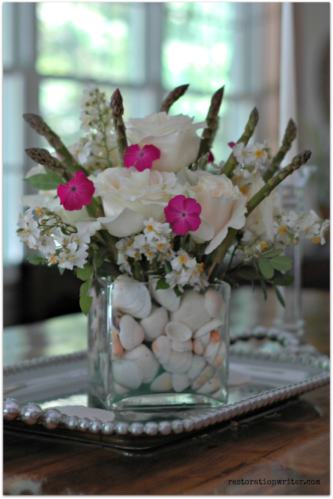 Flower Arrangement with Asparagus