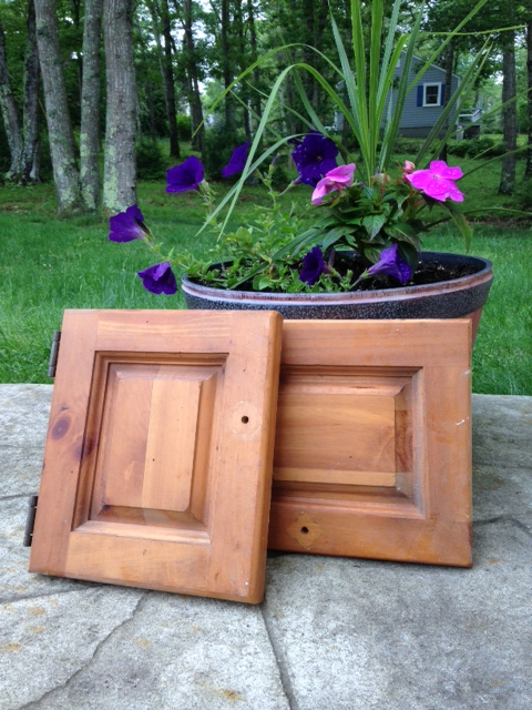 Repurposed Pine Cabinet Doors