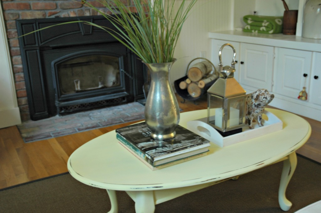 Coffee Table with Homemade Chalk Paint