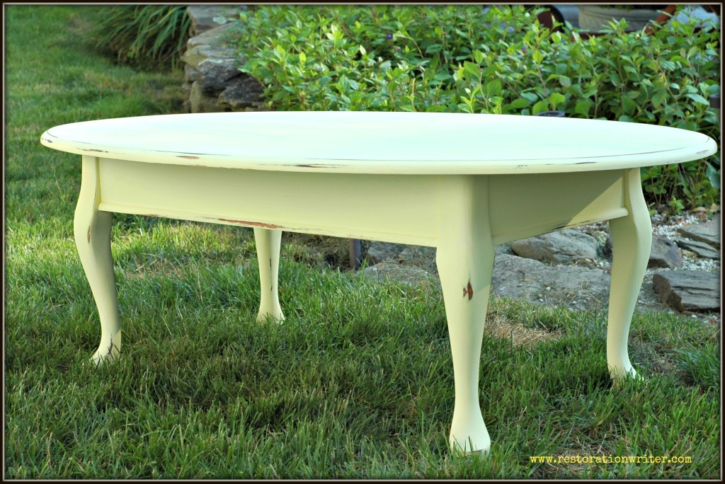 Coffee Table Painted with Homemade Chalk Paint