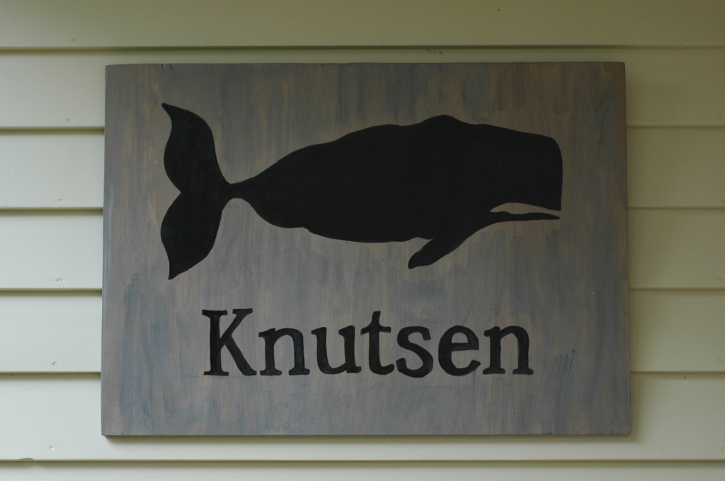 Personalized Whale Entrance Sign