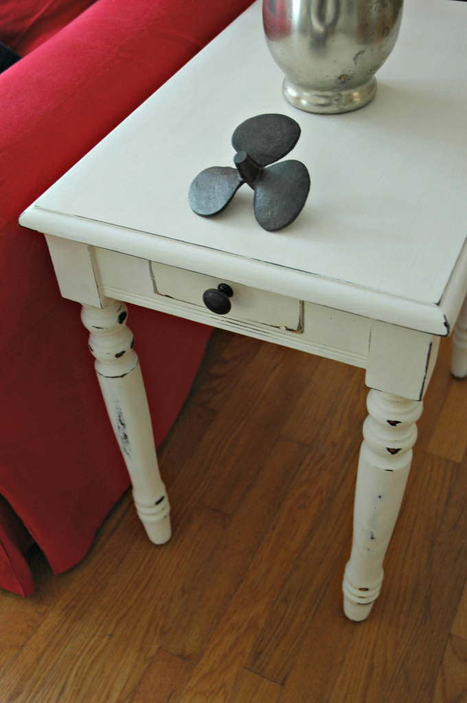 Side Table Painted with Homemade Chalk Paint