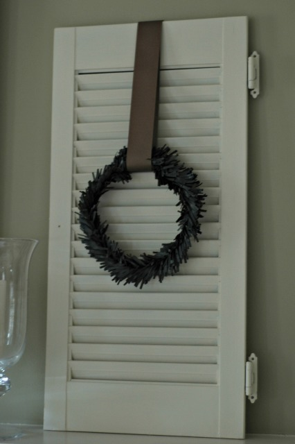 Shutter with Holiday Wreath