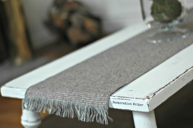 men's scarf as table runner