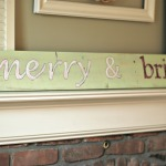 Handpainted reclaimed wood holiday sign