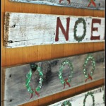 Reclaimed Wood Holiday Signs