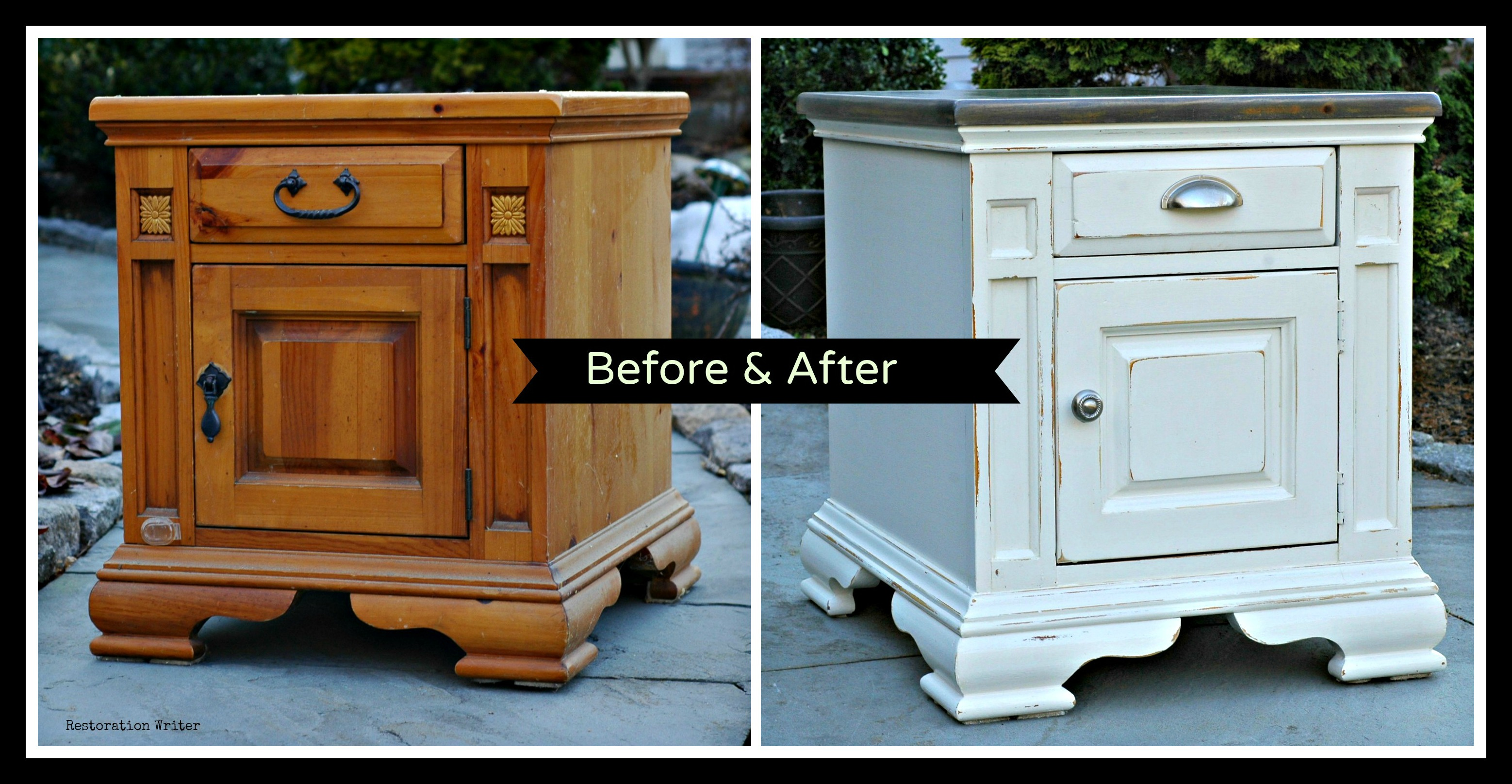 Paint pine furniture with a driftwood effect restoration for Pine furniture