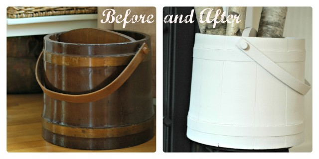 Repainted Maple Sugar Bucket