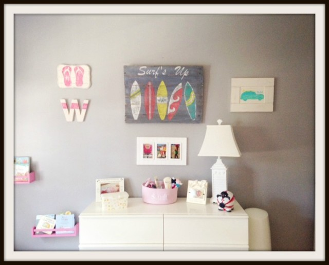 Little Girl's Surfing Themed Room