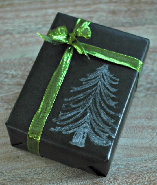 Chalkboard wrapping paper