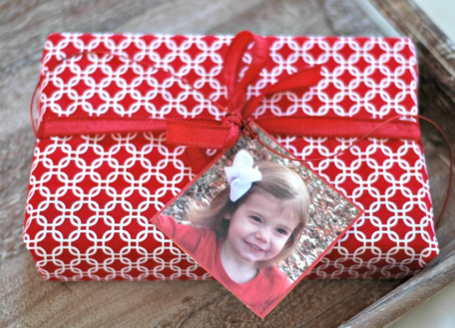 Fabric Christmas gift wrap