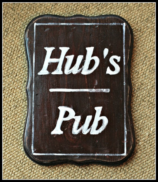 Hand-painted bar signs