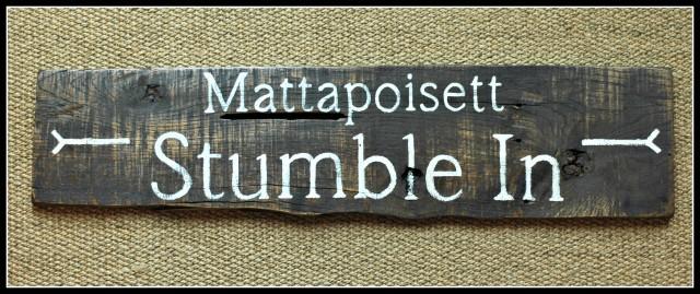 Hand-painted bar sign Mattapoisett