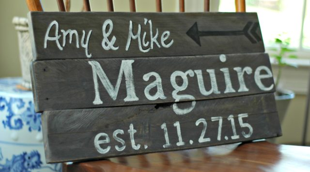 customized wedding gift