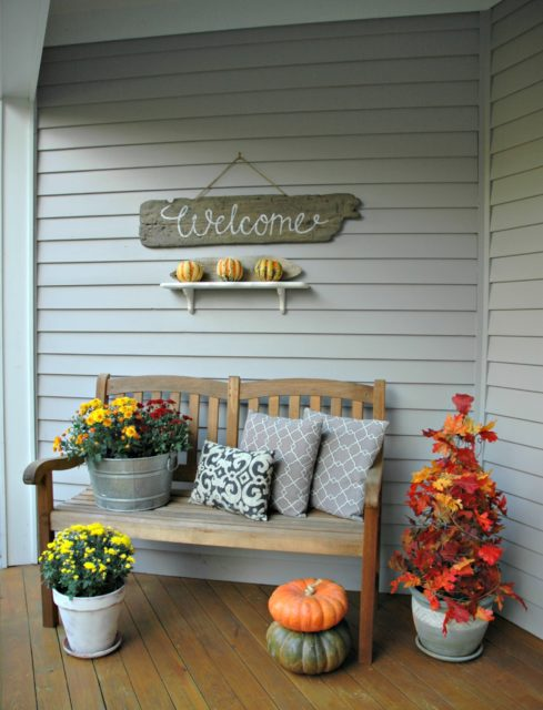 fall porch home decor